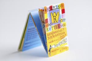 Zig zag folder <br> &#8220;Watertaxi Rotterdam&#8221;